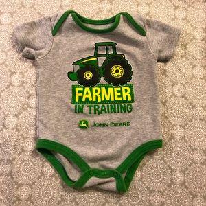 John Deere 6-9 month baby boy onesie